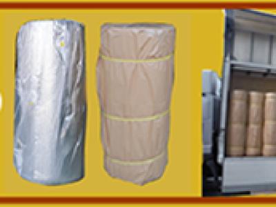 アルミ遮熱シート、入荷~出荷までの工程